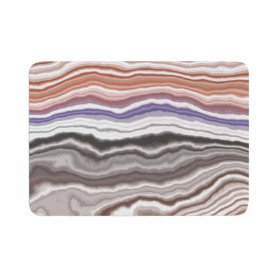 Iris Lake Bed Geological Abstract Memory Foam Bath Rug Size: 0.5 H x 17 W x 24 D