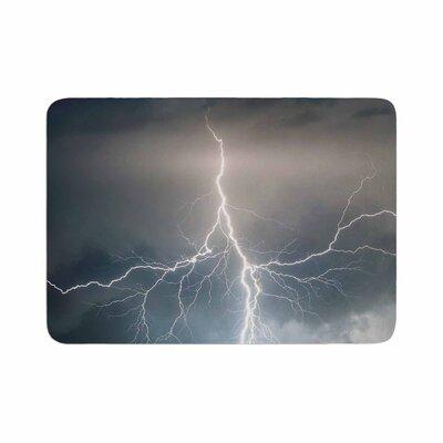 Lightning Storm Memory Foam Bath Rug Size: 0.5 H x 24 W x 36 D