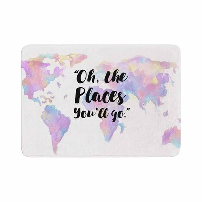 The Places Youll Go Memory Foam Bath Rug Size: 0.5 H x 24 W x 36 D