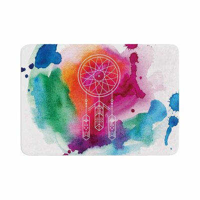 Dream in Color Watercolor Memory Foam Bath Rug Size: 0.5 H x 24 W x 36 D