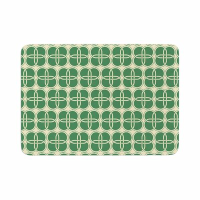 Celtic Crosses Pattern Memory Foam Bath Rug Size: 0.5 H x 17 W x 24 D