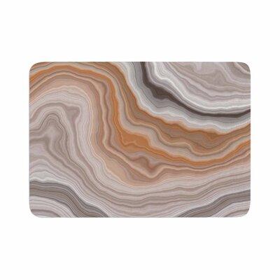 Burnt Geological Memory Foam Bath Rug Size: 0.5 H x 17 W x 24 D