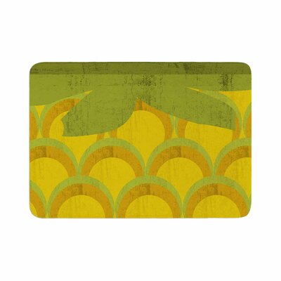 Kathleen Kelly Pineapple Digital Food Memory Foam Bath Rug Size: 0.5 H x 24 W x 36 D