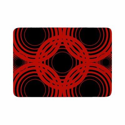 Kathryn Pledger Geo Crimson Geometric Memory Foam Bath Rug Size: 0.5 H x 24 W x 36 D