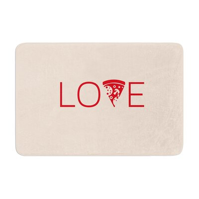Slice of Love Memory Foam Bath Rug Size: 0.5 H x 17 W x 24 D