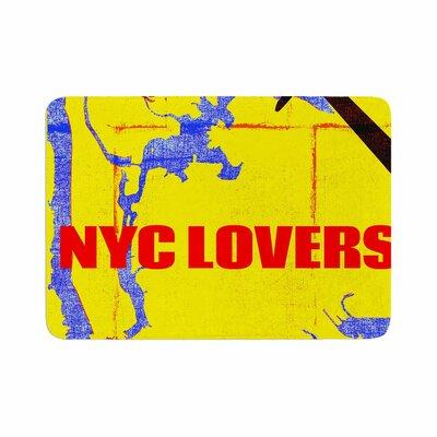 Lazar Milanovic NYC Lovers Memory Foam Bath Rug Size: 0.5 H x 17 W x 24 D