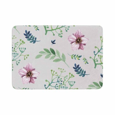 Louise Summer Flower Pattern Memory Foam Bath Rug Size: 0.5 H x 17 W x 24 D