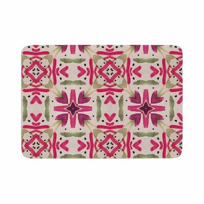 Laura Nicholson Echinacea Garden Magenta Geometric Memory Foam Bath Rug Size: 0.5 H x 17 W x 24 D
