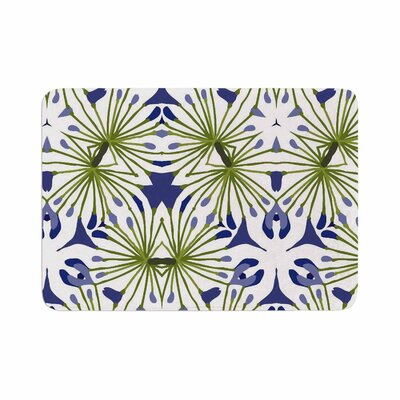 Laura Nicholson Thalia Floral Memory Foam Bath Rug Size: 0.5 H x 17 W x 24 D