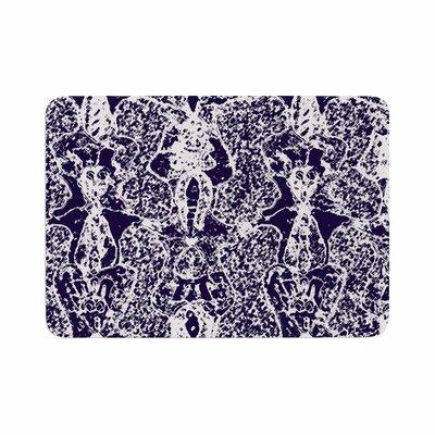 Laura Nicholson Loony Lace Illustration Memory Foam Bath Rug Size: 0.5 H x 24 W x 36 D