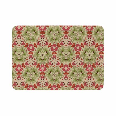 Laura Nicholson Thalia, Floral Abstract Memory Foam Bath Rug Size: 0.5 H x 17 W x 24 D