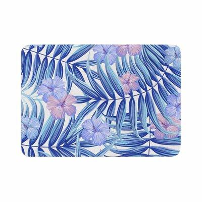 Marta Olga Klara Hawaiian Pattern Memory Foam Bath Rug Size: 0.5 H x 17 W x 24 D