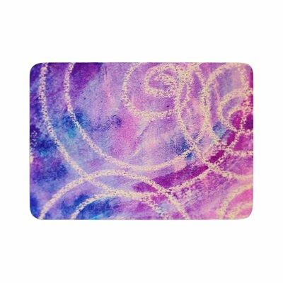 Liz Perez Vortex Watercolor Memory Foam Bath Rug Size: 0.5 H x 17 W x 24 D