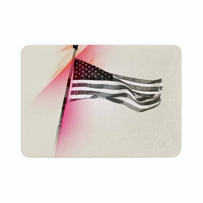 Just L Capture the Flag Memory Foam Bath Rug Size: 0.5 H x 24 W x 36 D
