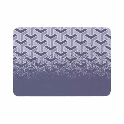 Just L No Yard Purp Vector Memory Foam Bath Rug Size: 0.5 H x 17 W x 24 D