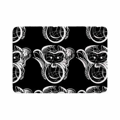 Maria Bazarova Monkey Animals Memory Foam Bath Rug Size: 0.5 H x 17 W x 24 D