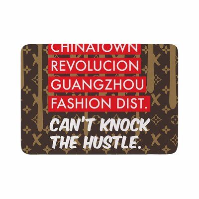 Just L Cant Knock the Hustle Brn Urban Memory Foam Bath Rug Size: 0.5 H x 17 W x 24 D