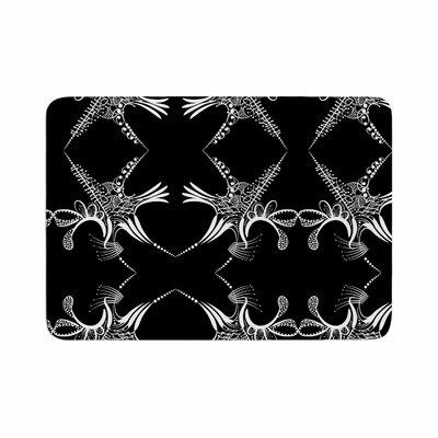 Maria Bazarova Snowflakes Illustration Memory Foam Bath Rug Size: 0.5 H x 17 W x 24 D