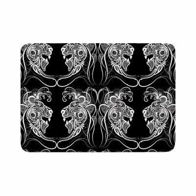 Maria Bazarova Lion Animals Memory Foam Bath Rug Size: 0.5 H x 17 W x 24 D