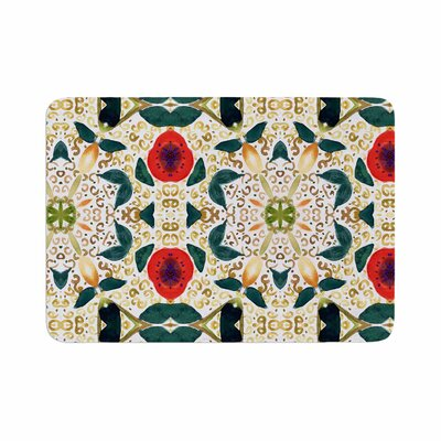 Laura Nicholson Persimmons Abstract Memory Foam Bath Rug Size: 0.5 H x 24 W x 36 D