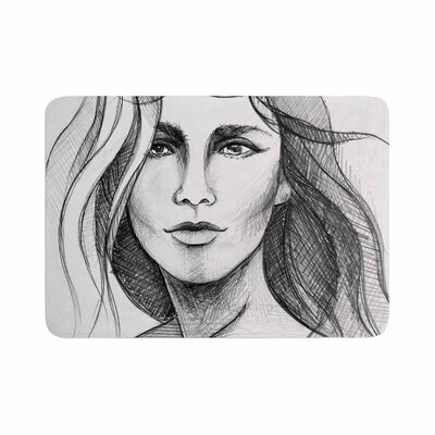 Maria Bazarova Fashion Woman People Memory Foam Bath Rug Size: 0.5 H x 17 W x 24 D
