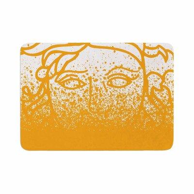 Just L Versus Spray Vector Memory Foam Bath Rug Size: 0.5 H x 17 W x 24 D