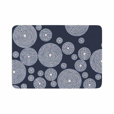 Laura Nicholson Indigo Labyrinths Memory Foam Bath Rug Size: 0.5 H x 17 W x 24 D
