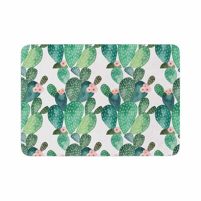Li Zamperini Cactus Watercolor Memory Foam Bath Rug Size: 0.5 H x 17 W x 24 D