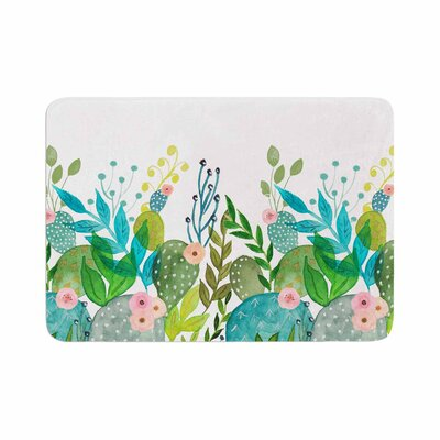 Li Zamperini Cute Foliage Watercolor Memory Foam Bath Rug Size: 0.5 H x 24 W x 36 D