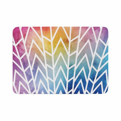 Matt Eklund Shattering Rainbows Abstract Memory Foam Bath Rug Size: 0.5 H x 24 W x 36 D