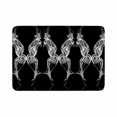 Maria Bazarova Wings Art Deco Abstract Memory Foam Bath Rug Size: 0.5 H x 24 W x 36 D