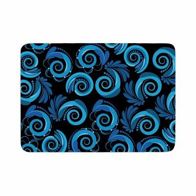 Maria Bazarova Waves Memory Foam Bath Rug Size: 0.5 H x 24 W x 36 D
