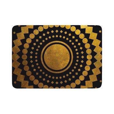 Matt Eklund Gilded Confetti Geometric Memory Foam Bath Rug Size: 0.5 H x 17 W x 24 D