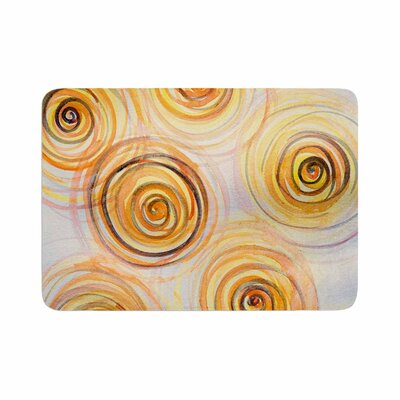 Maria Bazarova Spirals Memory Foam Bath Rug Size: 0.5 H x 24 W x 36 D
