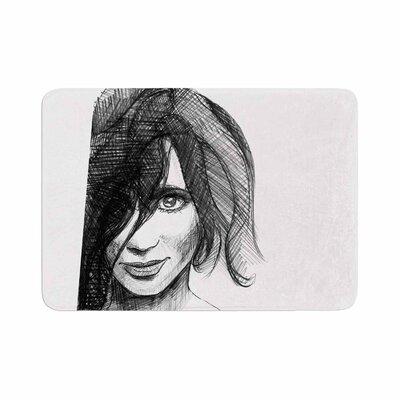 Maria Bazarova Self Portrait Memory Foam Bath Rug Size: 0.5 H x 24 W x 36 D