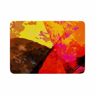Matthias Hennig Into the Fire Memory Foam Bath Rug Size: 0.5 H x 17 W x 24 D