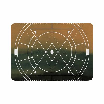 Matt Eklund Lost City Geometric Memory Foam Bath Rug Size: 0.5 H x 17 W x 24 D