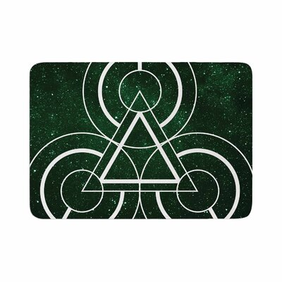 Matt Eklund Emerald City Geometric Digital Memory Foam Bath Rug Size: 0.5 H x 24 W x 36 D