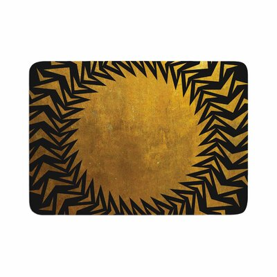Matt Eklund Gilded Chaos Geometric Memory Foam Bath Rug Size: 0.5