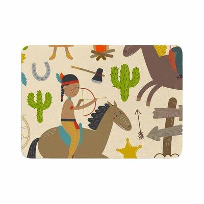 Petit Griffin Tipi Kids Memory Foam Bath Rug Size: 0.5 H x 24 W x 36 D