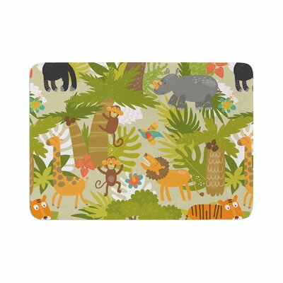 Petit Griffin Roar of the Jungle Animals Memory Foam Bath Rug Size: 0.5 H x 17 W x 24 D