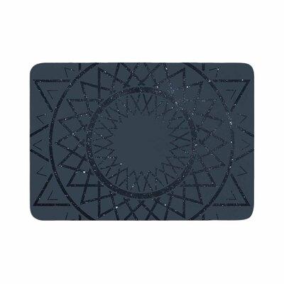 Matt Eklund Lunar Sundial Geometric Memory Foam Bath Rug Size: 0.5