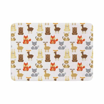 Petit Griffin Retro Animals Memory Foam Bath Rug Size: 0.5 H x 17 W x 24 D