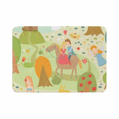 Petit Griffin Fairy Tale Fantasy Illustration Memory Foam Bath Rug Size: 0.5 H x 24 W x 36 D