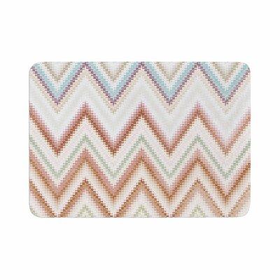 Nika Martinez Seventies Chevron Pattern Memory Foam Bath Rug Size: 0.5 H x 24 W x 36 D