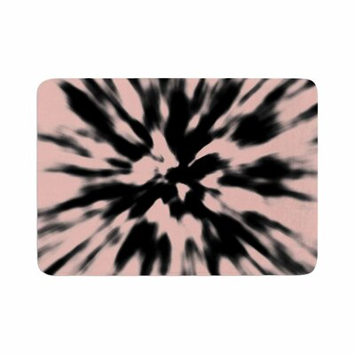 Nika Martinez Tie Dye Rose Abstract Memory Foam Bath Rug Size: 0.5 H x 24 W x 36 D