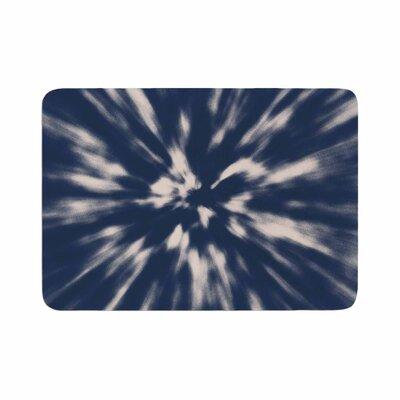 Nika Martinez Indigo Tie Dye Urban Memory Foam Bath Rug Size: 0.5 H x 24 W x 36 D