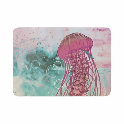 Mat Miller Jellyfish Illustration Memory Foam Bath Rug Size: 0.5 H x 17 W x 24 D