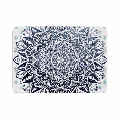 Nika Martinez Dots Mandala Illustration Memory Foam Bath Rug Size: 0.5 H x 24 W x 36 D