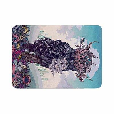 Mat Miller Journeying Spirit (Owl) Magenta Fantasy Memory Foam Bath Rug Size: 0.5 H x 24 W x 36 D